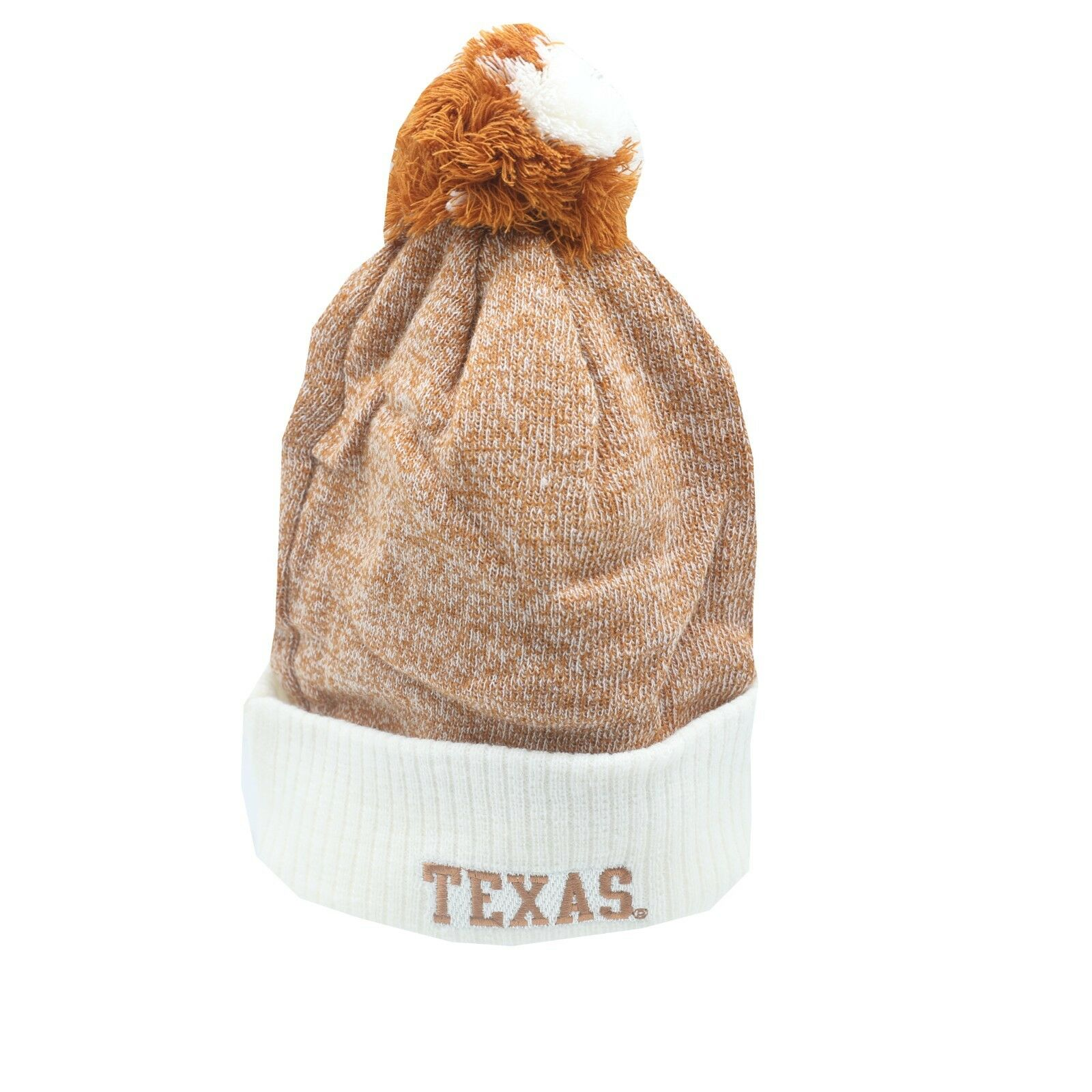 size 40 7108e 64deb Texas Longhorns NCAA Youth Boys (8-20) OSFM Cuffed Winter Pom Knit Beanie  New