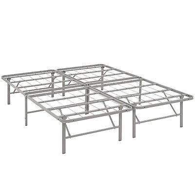 Modway Horizon Queen Bed Frame In Gray - Replaces Box Spring