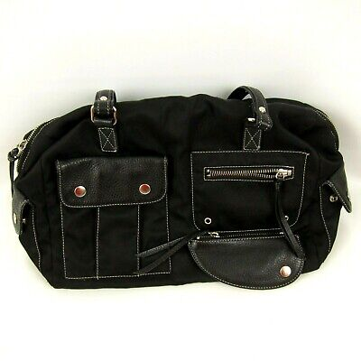Maxx New York Black Tote Purse Handbag Satchel Zipper Closure Pockets