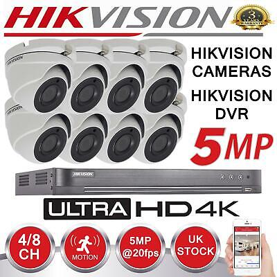 Dvr Security Kit (HIKVISION 5MP Camera IP67 EXIR 4K UHD DVR 4CH 8CH 8TB BNC Coax CCTV Security Kit)