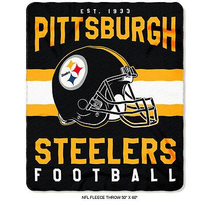New Northwest NFL Pittsburgh Steelers Soft Fleece Throw Blanket 50