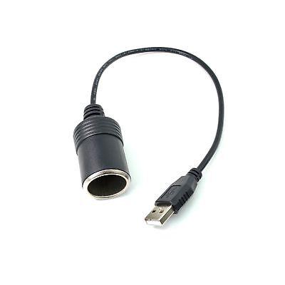 ARECORD USB A Male to 5V Car Cigarette Lighter Socket Female Converter - (Best A To D Converter)