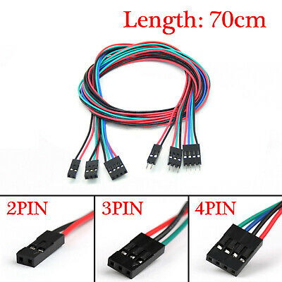 10pcs 70cm 2pin3pin4pin Male To Female Jumper Wire Dupont Cable For Arduino Uk
