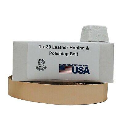 1 X 30 Leather Honing Polishing Belt With Buffing Compound