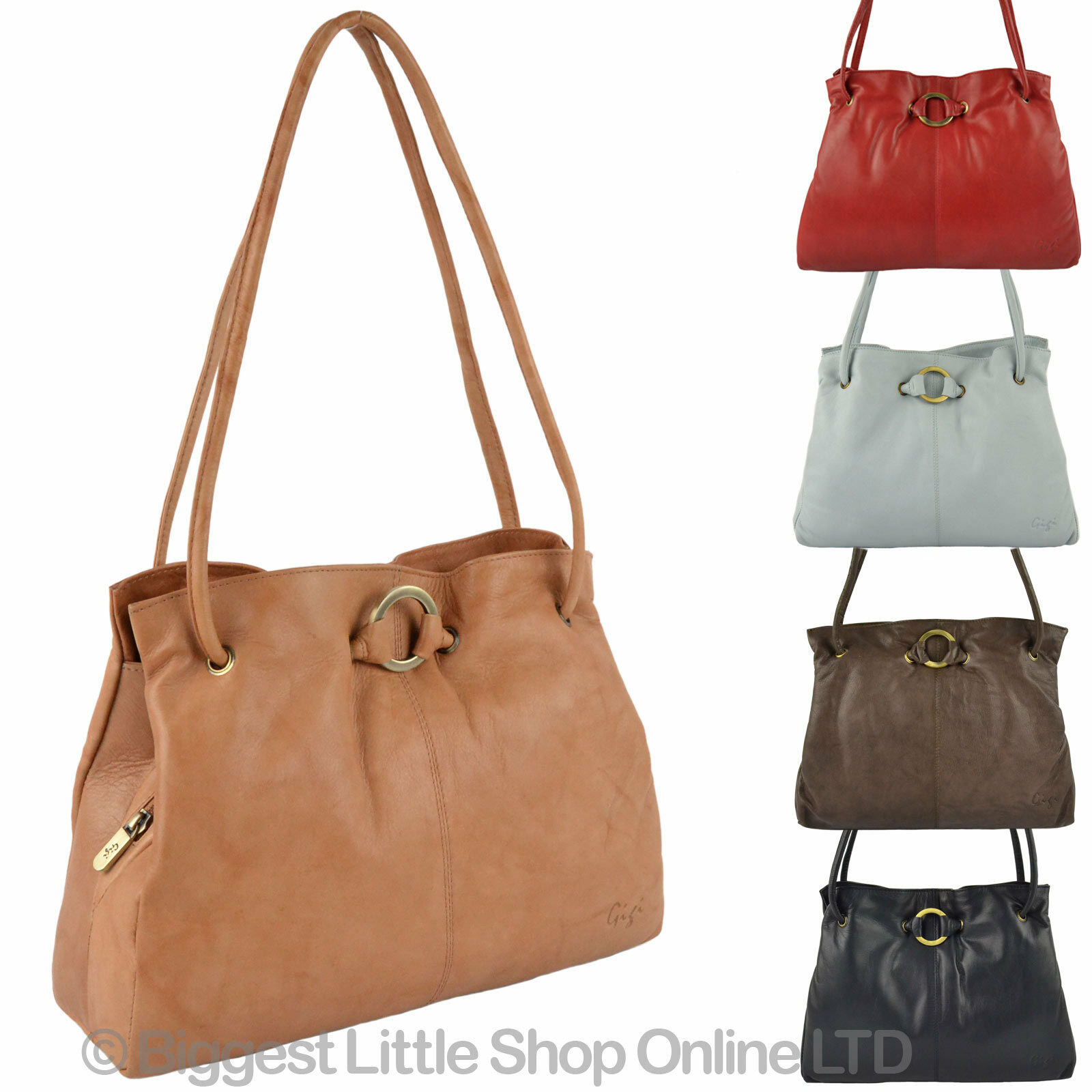 New Las Soft Leather Shoulder Handbag By Gigi Othello Collection Classic