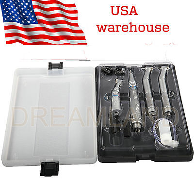 Nsk Pana Max Style Dental High Low Slow Speed Handpiece Kit Turbine 4 Hole Usa-y