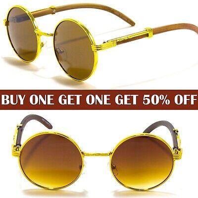Mens Women Designer Retro John Lennon Round Oval Shades Sunglasses Hippie (Mens Round Designer Sunglasses)