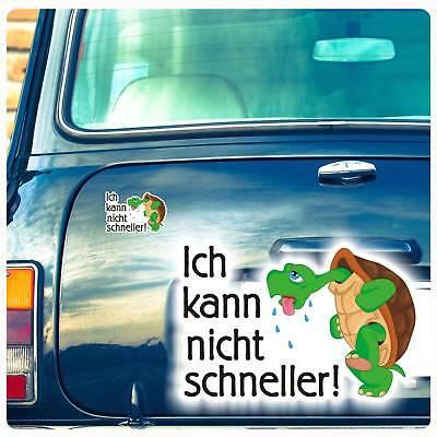 Autoaufkleber Schildkröte Ich kann nicht schneller Auto Aufkleber Hetz DA042 ()