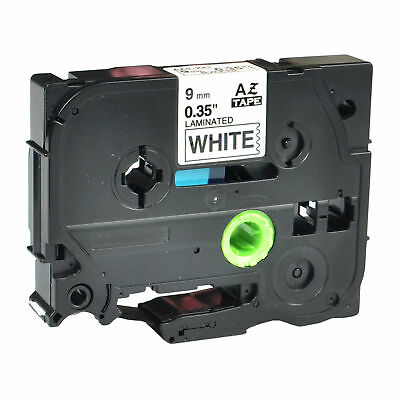 TZ-231 Laminated Label Tape For Brother P-Touch Black on white Tape 9mm TZe