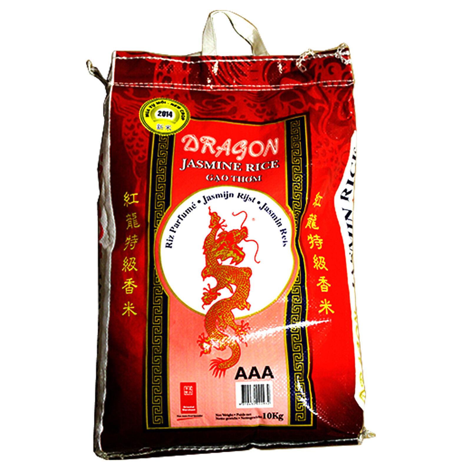 Duftreis 10 kg Red Dragon Jasminreis Premium Qualität AAA Reis 10 KG Jasmin Reis