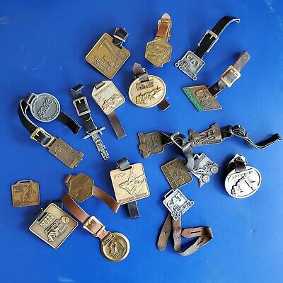 Vintage LOT Advertising Pocket Tractor GM Watch fobs