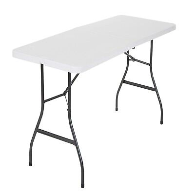 Cosco Centerfold Folding Table Home 6 Foot Portable Office Plastic Party White Cosco Office Folding Table