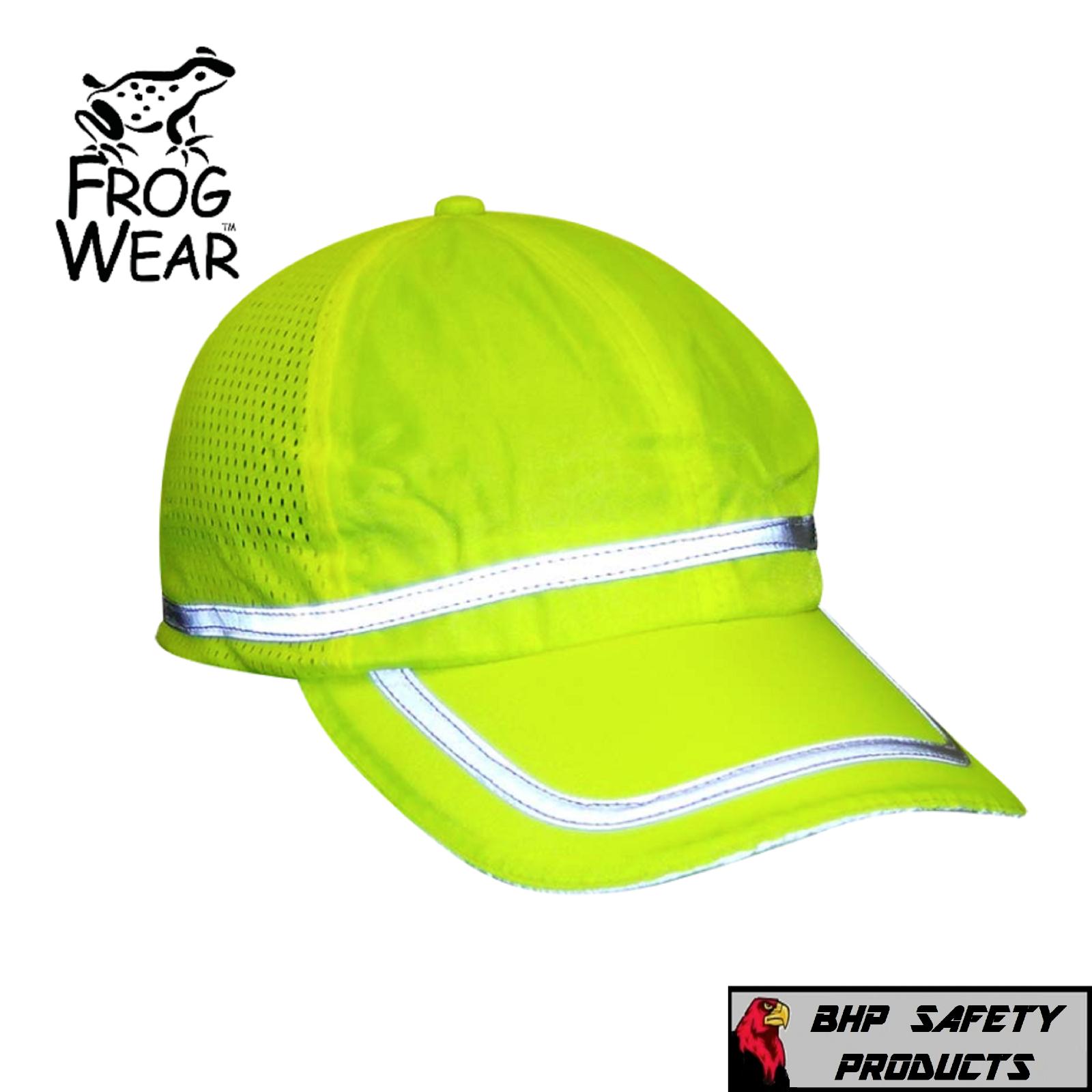 HI-VIS LIME REFLECTIVE HAT/BASEBALL CAP SAFETY, BREATHABLE M