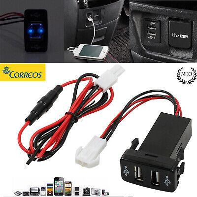 Encendedor del Coche Adaptador Luz de Cargador Double Puerto USB 12V Para...