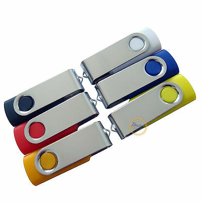 Free Laser Engraved LOGO 10PCS 8GB USB Flash Drive Memory Swivel Pendrive Stick