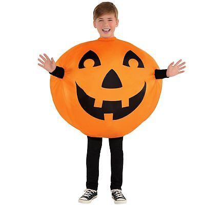 Wagen Kostüm (Kids Boys Aufblasbar Pumpkin Wagenheber 17 1/4 Lantern Neuheit Halloween Mode)