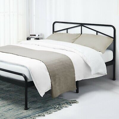 EASY ASSEMBLY 14'' Heavy Duty Metal Platform Bed with Headboard Underbed