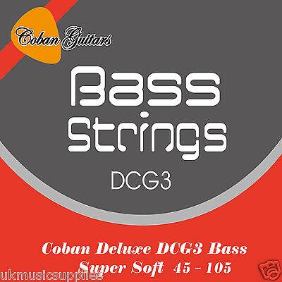Coban Guitarras Mejor Cuerdas bajo Eléctrico de Lujo DCG3 045-105 Mejorado