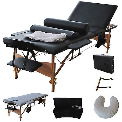 """Goplus New 84""""l 3 Fold Massage Table Portable Facial Bed W/s"""