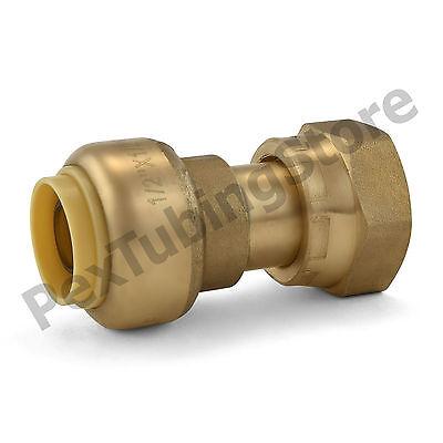 10 12 Sharkbite Style Push-fit X 12 Fnpt Lf Brass Fnpt Swivel Adapters