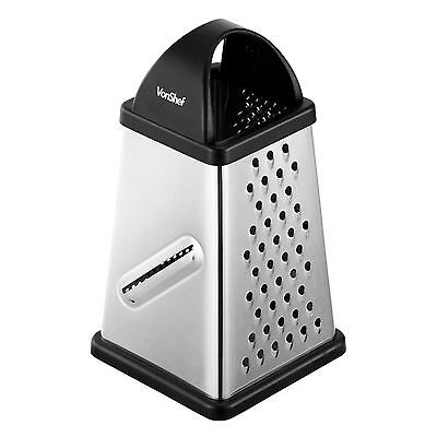 VonShef Grade 304 Stainless Steel 4 Sided Cheese, Fruit, Veg, Chocolate Grater