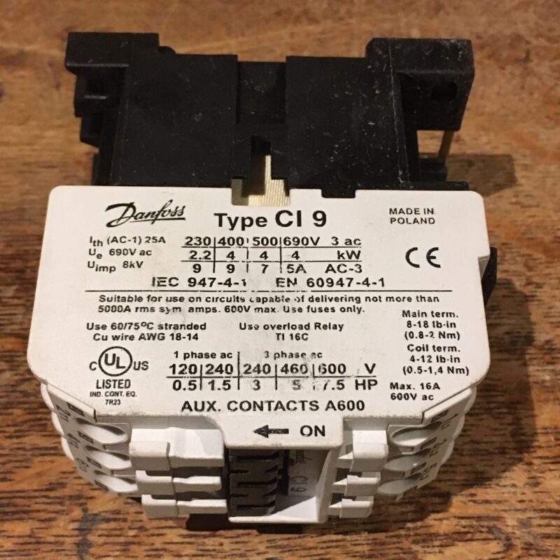 Danfoss CI 9 Contactor Motor Starter CI9