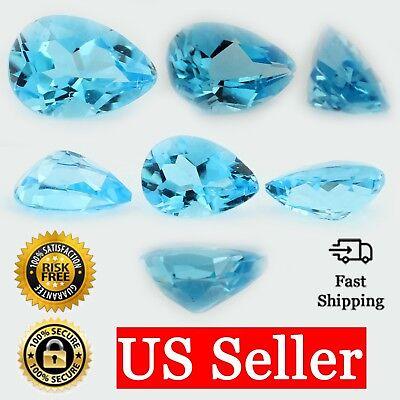 Blue Topaz Pear Shape (Loose Pear Shape Cut Genuine Natural Blue Topaz Stone Single November)