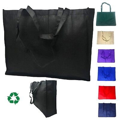 Extra Large Reusable Grocery Shopping Tote Bag Bags Recycled Eco Friendly 20