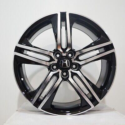 Set of 4 Wheels 19 inch Black Machined Rims fits HONDA ACCORD SEDAN 4 CYL. 08-18