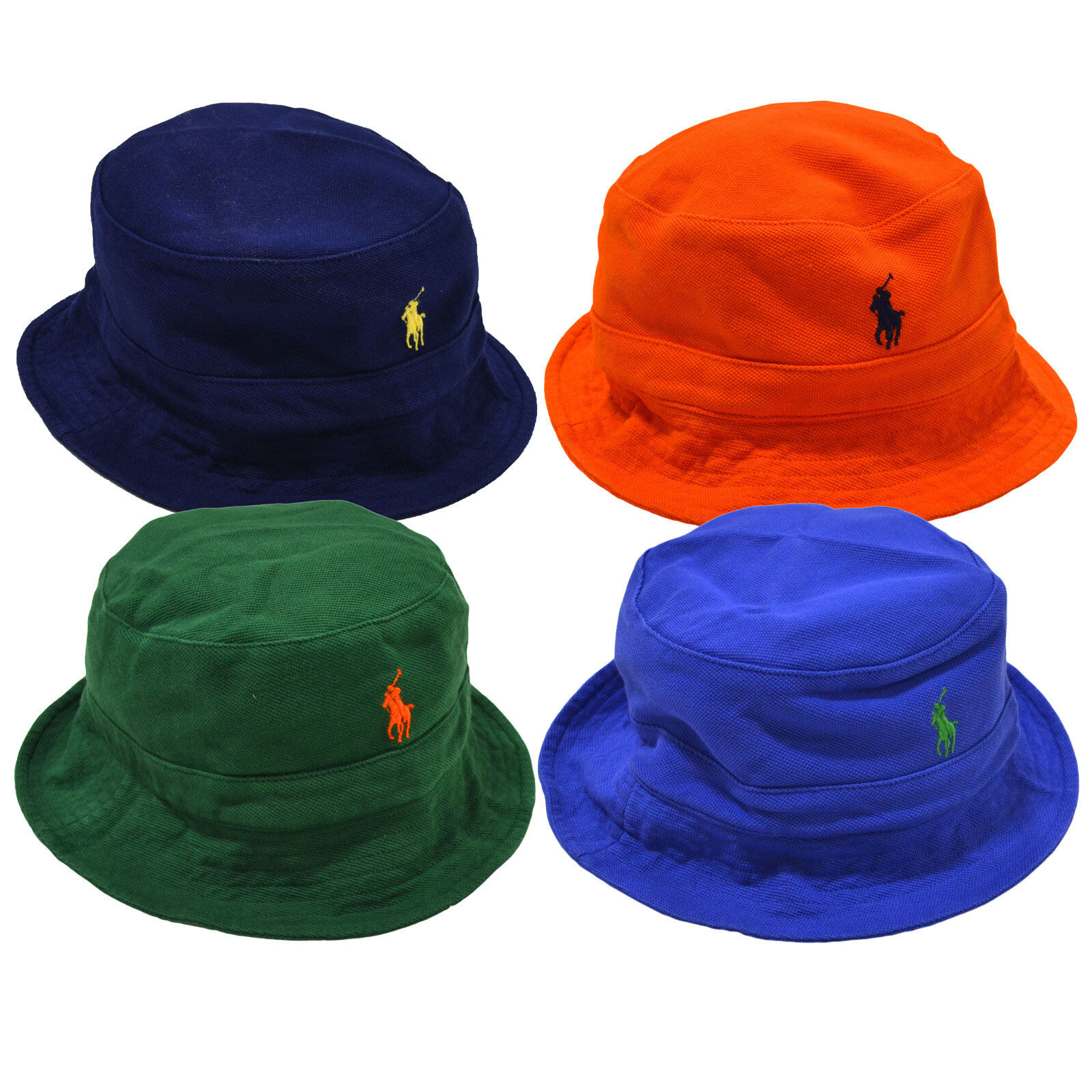 Polo Ralph Lauren Mesh Knit Mens Bucket Hat Embroidered Pony