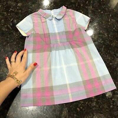 12 Months ( 9m +) Authentic Burberry Baby Girls Gorgeous Dress Check 1Y Shirt