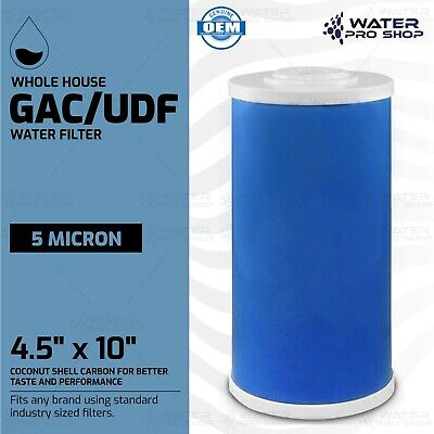 Whole House Granular Activated Carbon (UDF) Block Water Filter, 4.5