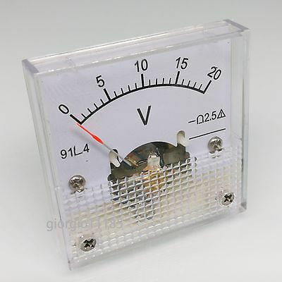 Us Stock Ac 0 20v Square Analog Volt Pointer Needle Panel Meter Voltmeter 91l4
