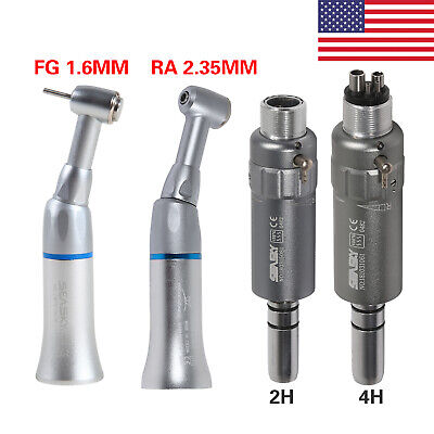 24-holes Dental Slow Low Speed Contra Angle Air Motor Micromotor Kit Ftg