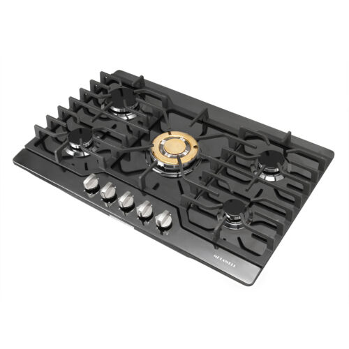 METAWELL 30inch Built-in 5 Burner Gas Hob/Cooktop with Titan