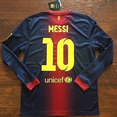 2012/13 Barcelona Home Jersey #10 Messi Large NIKE Long Sleeve BLAUGRANA NEW Barcelona Home Long Sleeve