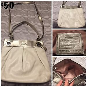 Authentic COACH White crossbody purse