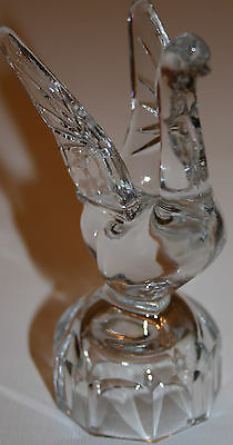 Antique Soviet Union/USSR Russian Crystal Swan Cut Glass DECANTER TOP DECORATION