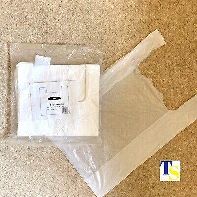 200 x Plastic Carrier Bags - Vest Handles - 10x15x18