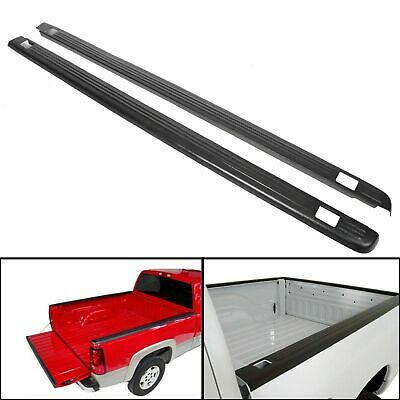 "Bed Rail Caps Side Covers For 1999-2006 Chevy GMC Silverado Sierra 6'6"" 72-01151"