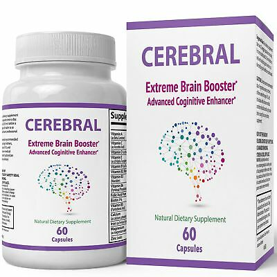 Cerebral Extreme Brain Booster Supplement | Natural Nootropics For Mental Foc...