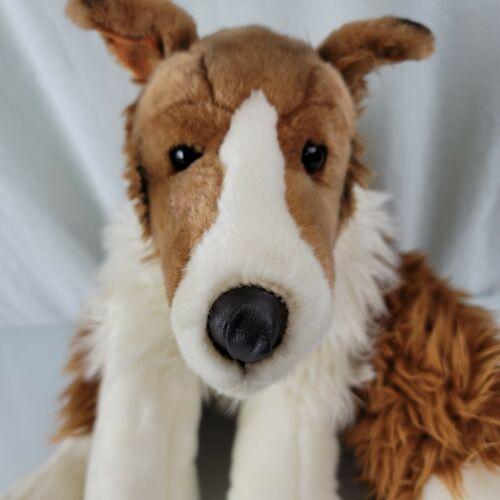 "GUC-24"" Animal Alley Collie Brown Lassie BIG Dog Realistic Stuffed Plush Puppy"