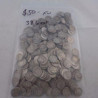 Mercury Dime Lot ~ 500 Silver Dimes ~ $50. Face Value ~ 39.6 troy oz. 90% Silver