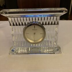 Waterford Paradox Marquis Large Glass Lead Crystal Mantel Clock