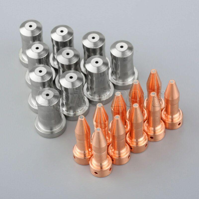 20Pcs Plasma Torch Nozzle 33418 & Electrode 33366XL 80Amp for PT-23 PT-27 Model