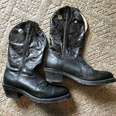 MENS DOUBLE H M AG7 Black WORK WESTERN BOOTS Size 11D - MSRP Was $215 Ships Free