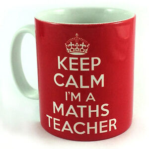 NEW-KEEP-CALM-IM-A-MATHS-TEACHER-GIFT-MUG-CUP-CARRY-ON-STUDENT-SCHOOL-PRESENT