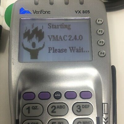 Verifone Vx805 Ctls Pos Terminal Credit Card Swipe Chip Reader Usb Cable Tested