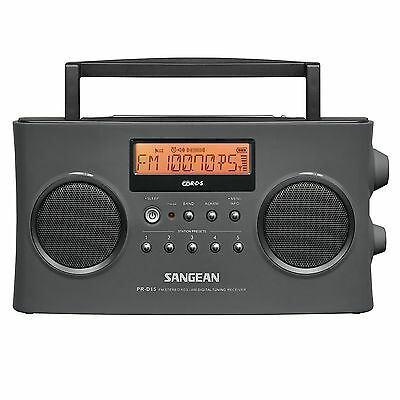 Sangean Pr D15 Fm Stereo Rds  Rbds   Am Digital Tuning Portable Radio Receiver