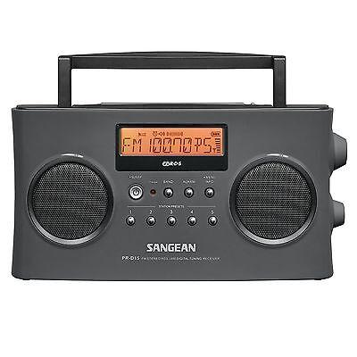 Sangean Pr D15 Fm Stereo Rds  Rbds   Am Digital Tuning Portable Radio Receiver